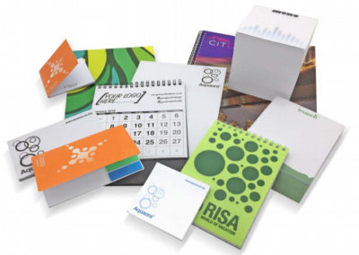 Catálogo blocks de notas personalizados, 25% de descuento