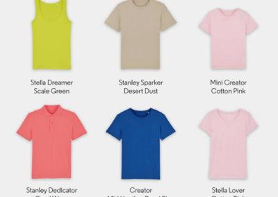 Camisetas algodón orgánico personalizada, desde 5€/ud