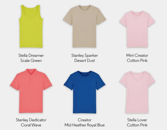 Oferta camisetas algodón orgánico personalizadas