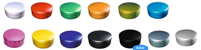 Oferta de latas caramelos de colores personalizadas